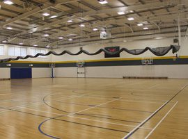 Electrically Operated 'Roll Up' Sports Hall