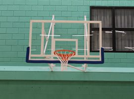Wall mountedbasketball goal