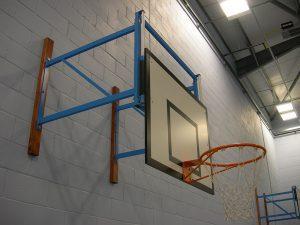 School basketball goals
