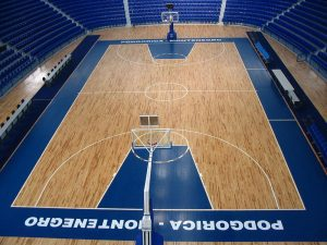 Basketball court markings
