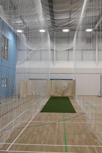 Indoor cricket netting for academies