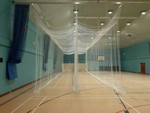 Double cricket netting bays