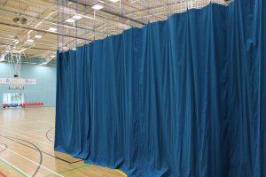 Sports hall curtains