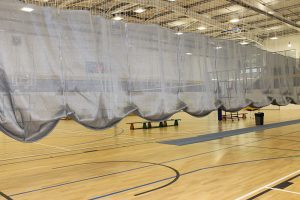 Unique sports hall netting