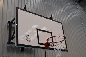 Wall mounted basketball goal