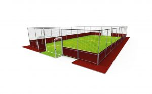 Demountable football pitch