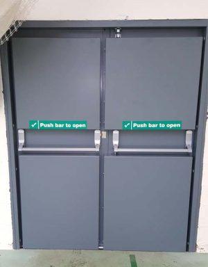 safer sports hall doors